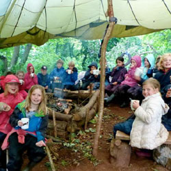 Salcombe-Beesands-forest-day-school-Forest and Beach-Kids-camp-easter-South-Devon